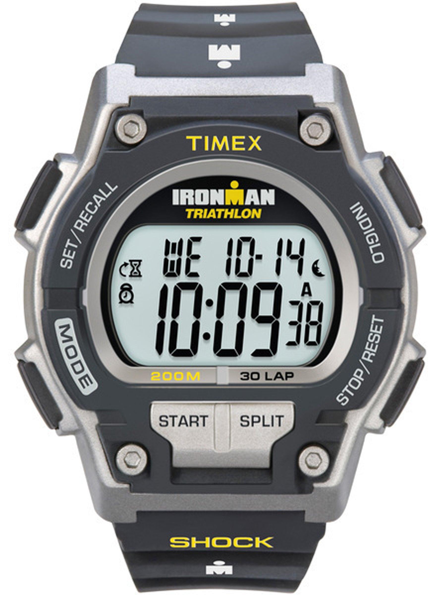 Timex Men Sport T5K1959J Ironman Original 30-Lap Shock Full-Size Black/Grey Watch