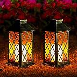 Lampada Solare Giardino Esterno,OxyLED 2 pcs LED Luci Solari Giardino,Cambia Colore Lampade da Esterno per Prato,Decorativo L