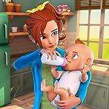 Virtuelles Babysitter-Leben: Glückliche Familien-Mutter