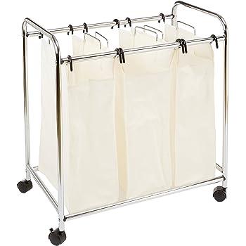 Amazonbasics Three Bag Laundry Sorter Amazon Co Uk