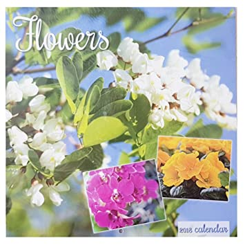 2018 Flowers Gardens Bouquets Square Wall Calendar 16 Month Home ...