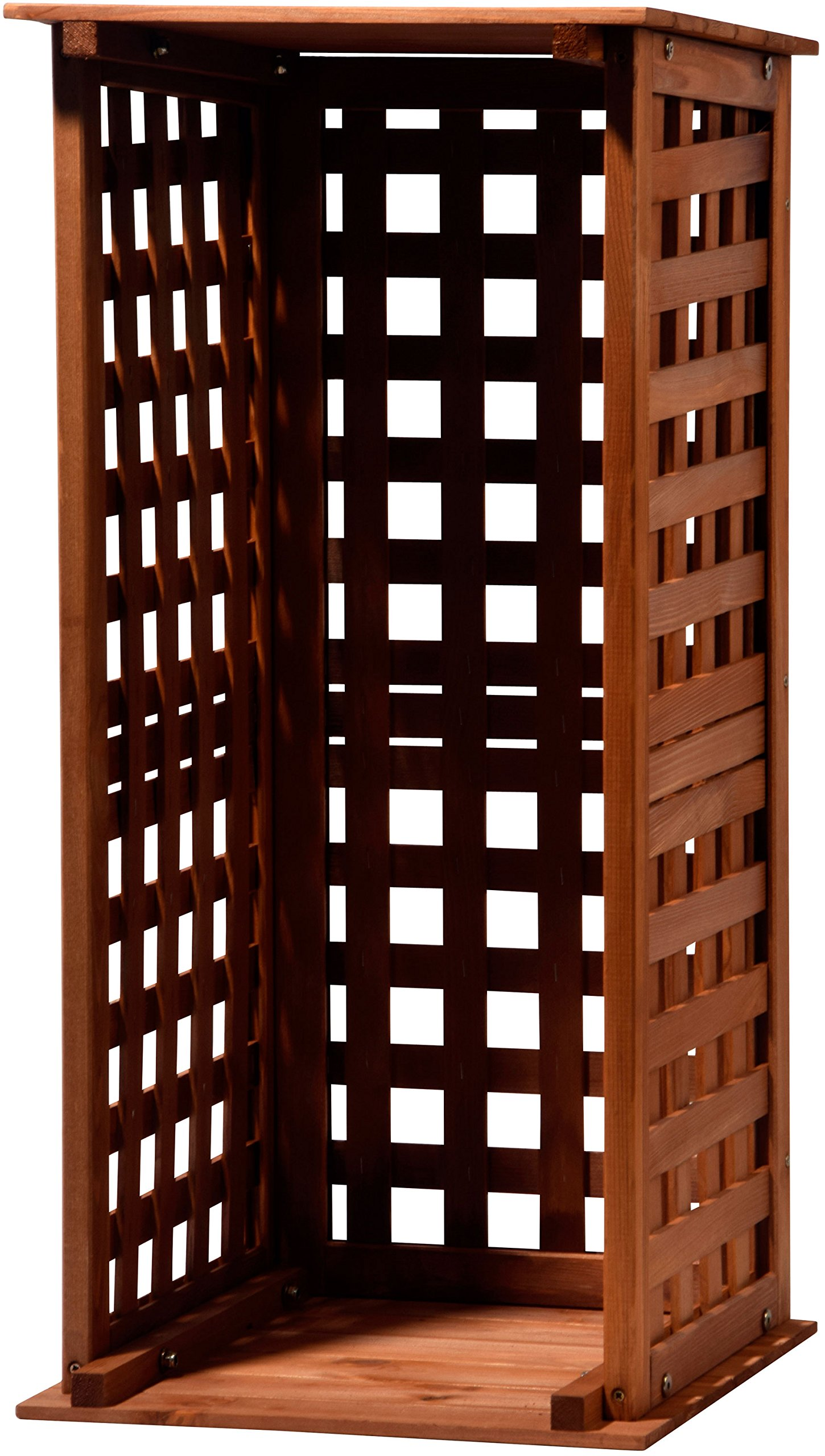 dobar 29097FSC Chimenea Madera Estante de Madera para Interior y Exterior en el jardín, marrón, 39x 39x 85cm