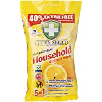 Greenshield Anti Bacterial Household Surface 70 Wipes Pack,40%Extra free
