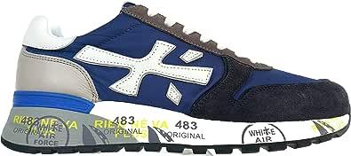 PREMIATA Scarpe da Uomo Sneaker in camoscio Tela e Pelle Mick 4567 Blu Avio