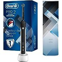 Oral-B PRO 2 2500 Brosse à Dents Électrique Rechargeable avec 1 Manche Capteur de Pression, 1 Brossette et 1 Étui de…