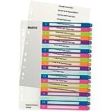 Leitz Intercalaires 1-20, Imprimable sur PC, A4, Extra-Large, Plastique Ultra-Résistant, Multicolore, WOW, 12450000