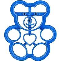 PlasticJewels - Stampo formina tagliabiscotti a forma di orsetto Teddy Bear con cuore