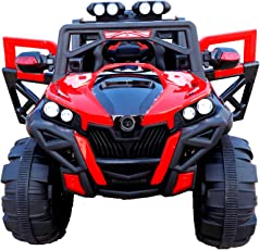 Toyhouse Rocky SUV ATV Rechargeable Battery Operated Ride-on for Kids, Red