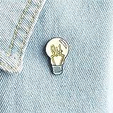Yesiidor creative lampadina e Sea Wave design smalto spilla Fashion lovely Funny vestiti borse zaini spilla gioielli Gift, La