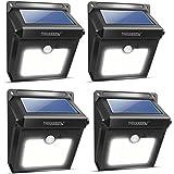 Lampe Solaire Extérieure, Neloodony 28 LED Solaire Extérieur avec Etanche IPX6 Détecteur de Mouvement, Lumière Solaire Extérieur pour Jardin, Maison, Garage, Cour, Mur, Escalier, Patio etc-4 Pack