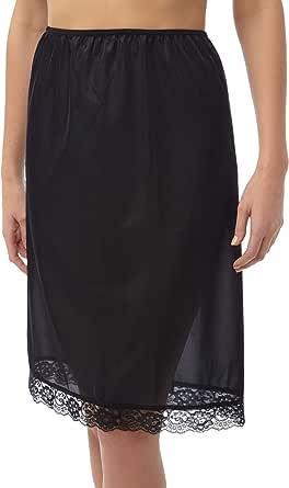 Ladies Cling Resistente sotto Garmen Underwear Half Slip Slip in Vita 61cm Lungo