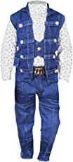 Devil Boy's Denim Jeans and Jacket Clothing Set