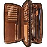 Hill Burry Leder Reisebrieftasche   Dokumententasche - Travel/Wallet aus naturgegerbtem hochwertigem Rindsleder   Organizer/X