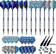 Gallop Chic Soft Dartpfeile Set, Softdart Pfeile 18g, 12 Stück Plastik-Dartspitzen Geschenkset für Elektronische Dartscheibe