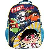 حقيبة ظهر ريان وورلد للأولاد والبنات، حقيبة مدرسية متينة مع جيوب جانبية أمامية وشبكة، ظهر مبطن وأشرطة قابلة للتعديل