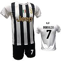 DND DI D'ANDOLFO CIRO Completo Calcio Maglia bianconera Home Ronaldo 7 CR7 e Pantaloncino con Numero 7 Stampato Replica…