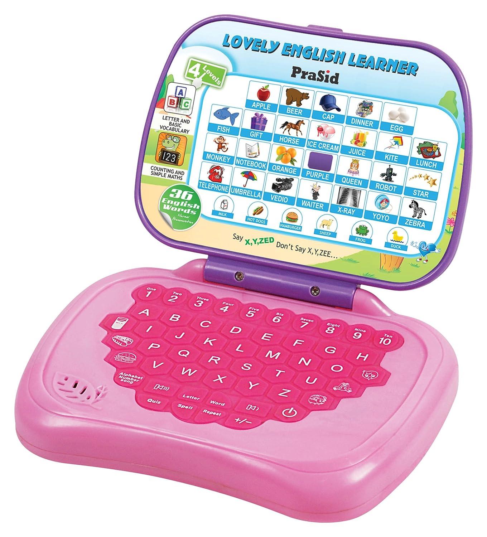 Buy Prasid Lovely English Learner Kids Laptop Pink Purple line