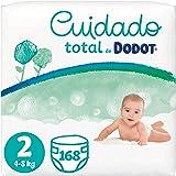 Dodot Pañales Bebé Cuidado Total Talla 2 (4-8 kg), 168 Pañales, Suave Protección de la Piel de Dodot con Ingredientes de Orig