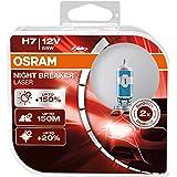 OSRAM 64210NL-HCB Night Breaker Laser H7, Lampada da proiettore alogena, 12V, Flusso luminoso: 1500 lm, auto, 2 pezzi (La con