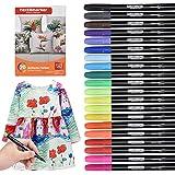 Waschmaschinenfeste Textilmarker, 20 Wasserfeste Textilstifte in Leuchtenden Farben, Nicht Giftige Permanent Marker, Stoffmal