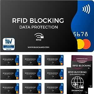8x NFC Blocker I RFID blocking card I für EC-Karten Kreditkarten Ausweise