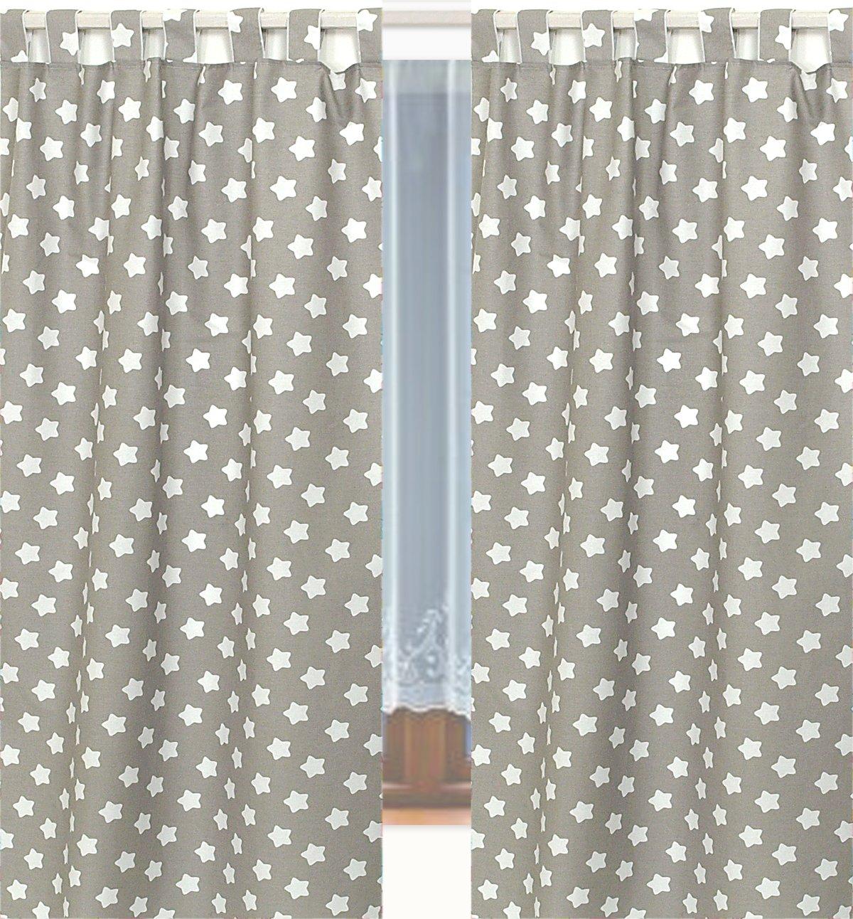 2x tende grigie con stelle bianche per bambino nursery cameretta dei bambin
