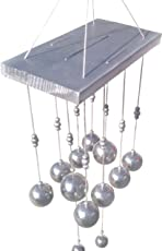Discount4product Silver 10bell Wooden and Metal Wind Chime for Positive Energy
