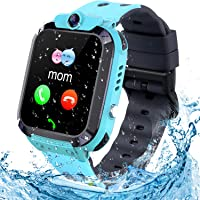 Smartwatch bambini Tracker LBS/impermeabile Orologio Smart Phone LBS Anti-perso con Chat Vocale Sveglia SOS per il Gioco…