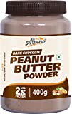 Alpino Peanut Butter Powder Dark Chocolate 400 G (15 G Protein / 3 G Fat / Gluten Free / Non-GMO / Vegan)