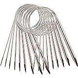 AIEX 9pcs Acier Inoxydable Ensemble D'Aiguilles à Tricoter Circulaires Aiguilles à Tricoter Pour Projet De Tissage - 2,5mm /