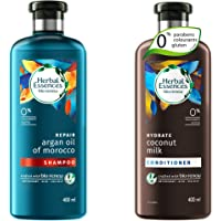 Herbal Essences Bio Renew Argan Oil Of Morocco Shampoo, 400 Ml With Herbal Essences Bio Renew Coconut Milk Conditioner…