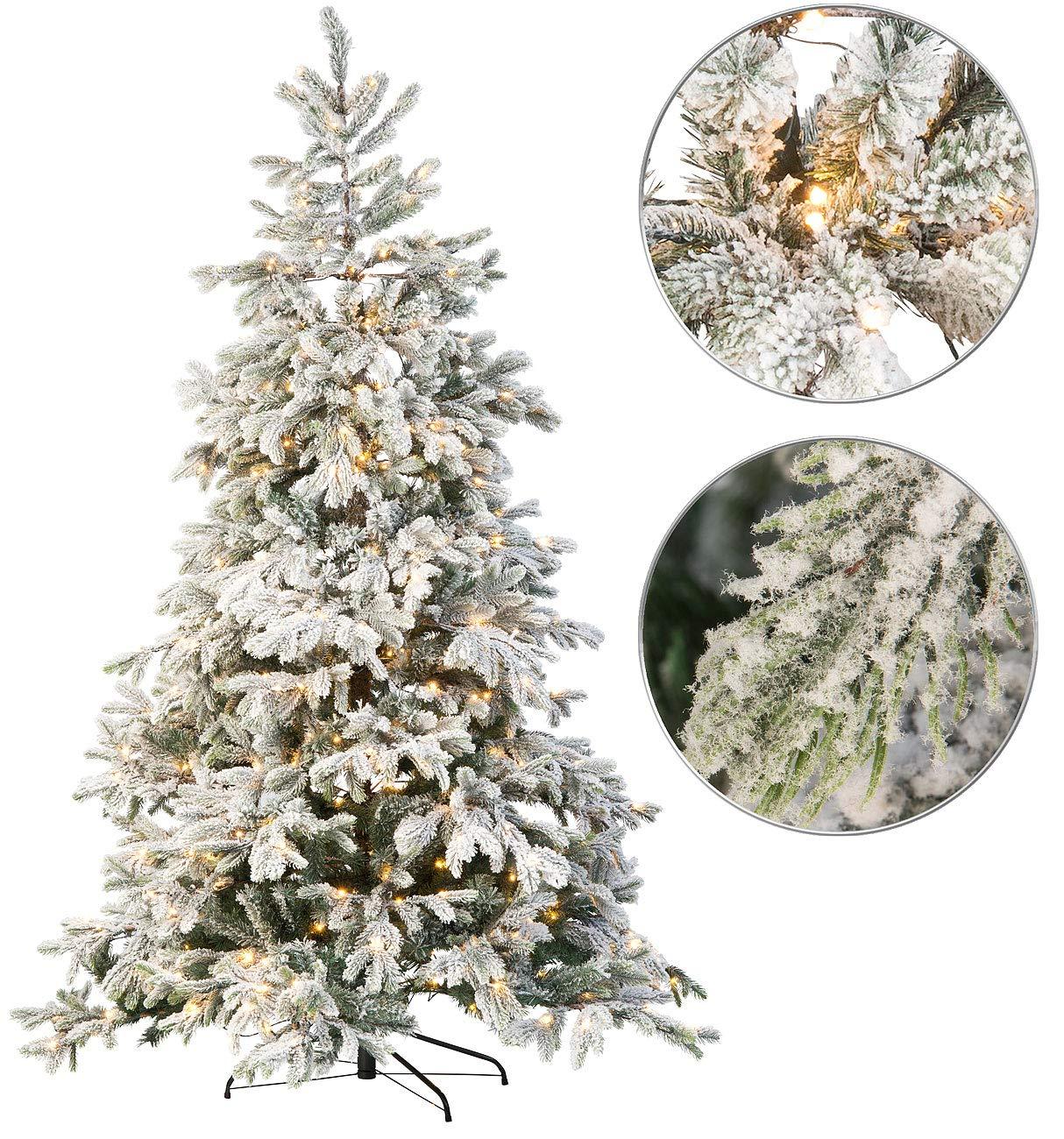 infactory-Fichte-Knstlicher-Weihnachtsbaum-weie-Spitzen-500-LEDs-70-ste-225-cm-Knstliche-Tannenbume-mit-LED