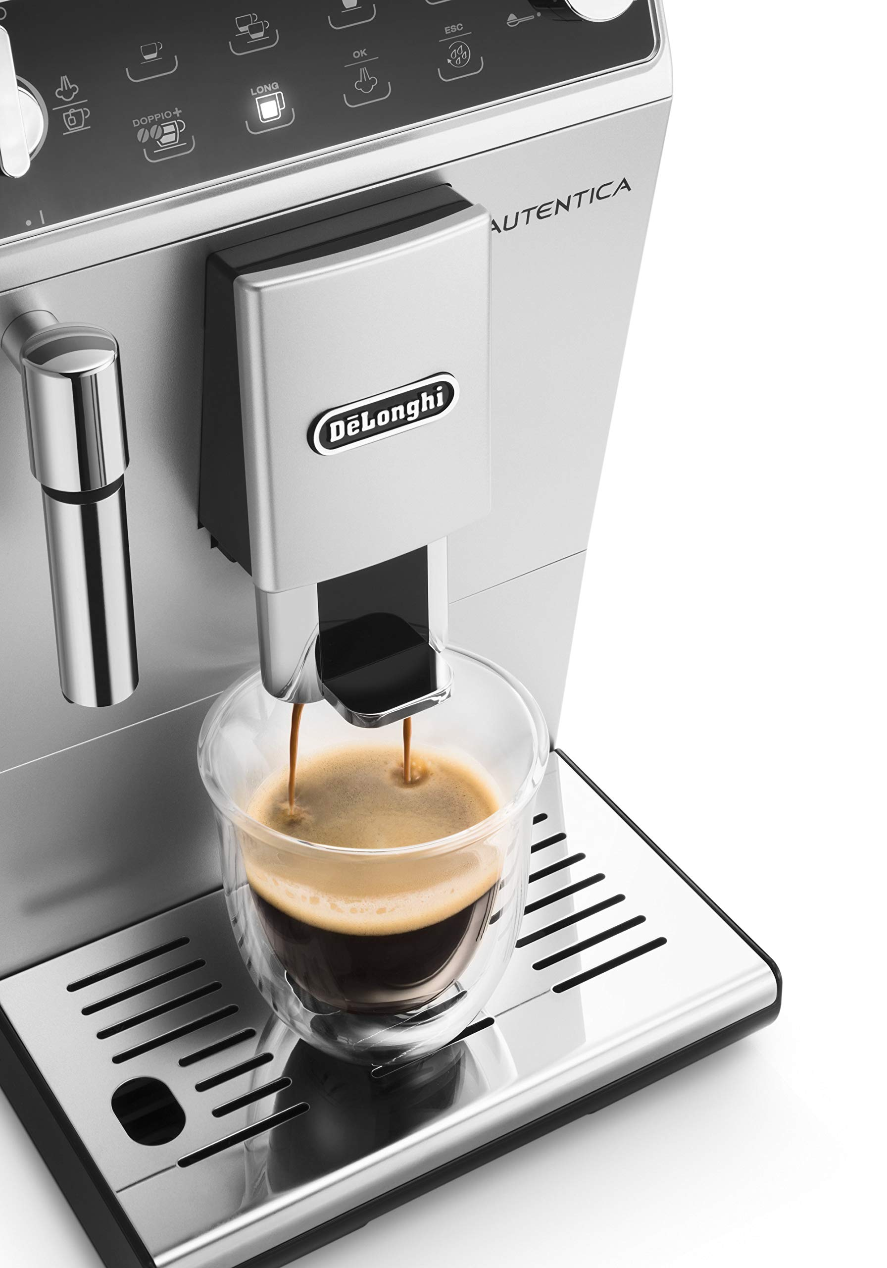81MJfHu3nHL - De'Longhi Autentica Cappuccino, Fully Automatic Bean to Cup Coffee Machine, Espresso Maker, ETAM29.660.SB, Silver and…