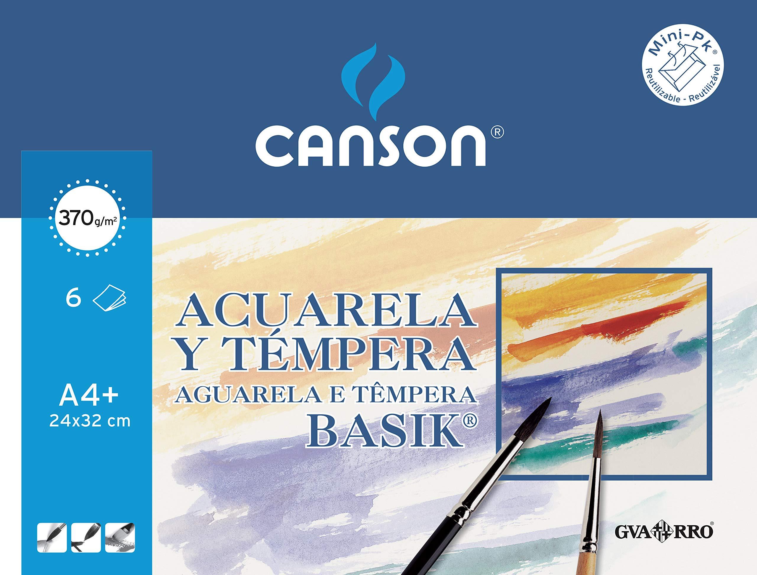 Canson 406347 – Papel para acuarela, 6 hojas