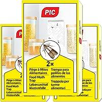 PIC Piéges à Mites Alimentaires Paquet Triple = 6pièges Anti Mites - Piège à phéromones pour la Cuisine et Les magasins…
