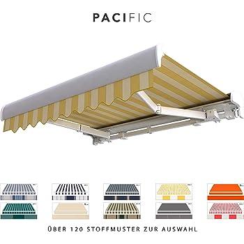 Amazon De Broxsun Kassettenmarkise Pacific Breite 2 1 Bis 7m