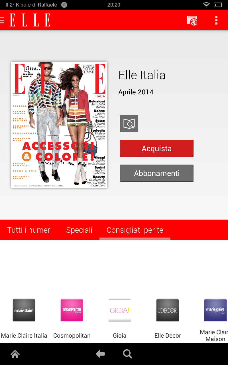 Elle italy apps f r android for Hearst magazines italia stage