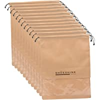 Shoeshine Pack of 12 Beige Shoe Bag Portable Shoe Cover/Pouch