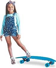 Relaxdays Longboard Cruiser 38 Zoll, ABEC 7 Skateboard mit Alu-Trucks, Retro Board mit Neon Flex Deck, versch. Farben