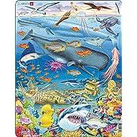 Larsen FH20 La Vie Marine dans l'océan Pacifique, Puzzle Cadre avec de 66 pièces