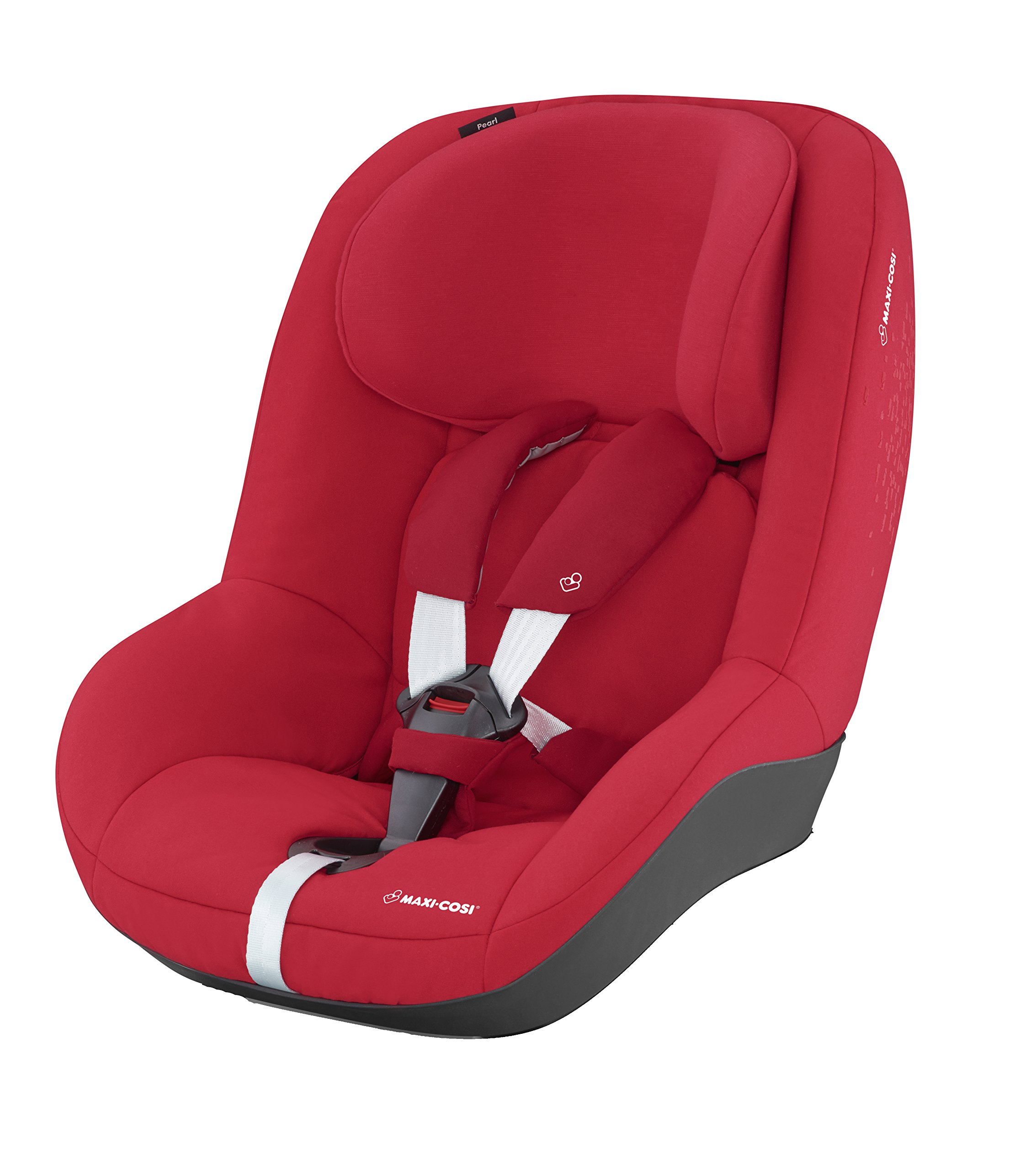 Maxi-Cosi Pearl Car Seat, Vivid Red + FamilyFix Car Seat Base ISOFIX, Black Maxi-Cosi Isofix anchorages provides the safest, easiest and quickest way to install a car seat  Innovative stay open harness stays open to easily get the child in and out in seconds  ISOFIX car seat base suitable for children up to 18 kg (from birth to 4 years) 2