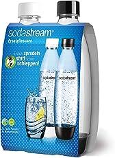 SodaStream Duopack PET-Flasche FUSE, schwarz & weiß aus bruchfestem, klarem PET. FREI VON BPA! Ideal für Schule, Sport und Freizeit; NUR geeignet für SodaStream Sprudler EASY & POWER!