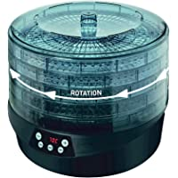 Maxxo RotoDry+ Déshydrateur alimentaire rotatif, Machine électrique déshydrateur, 5 Plateaux, 500W, Système de rotation…