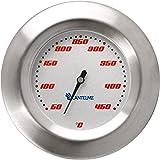 Thermometer für Grill / Smoker / Räucherofen / Grillwagen . Analog / Bimetall / Edelstahl . BBQ Grillzubehör Modell Lantelme SKU5122-WSS-307Racing