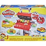 Play-Doh Kitchen Creations Grill 'n Stamp Juego para niños de 3 años en adelante con 6 Colores compuestos de Modelado no tóxi