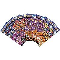 LEMESO Autocollants Halloween 3D, Kit de 8 Feuilles Gommettes Adhésives Toussaint Noël, Décoration Stickers Brillant…