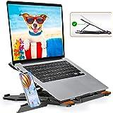 TopMate Support d'ordinateur Portable à Base rotative à 360 Support d'ordinateur Portable Portable, Hauteur réglable inférieu