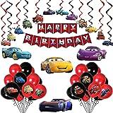 Party Propz Car Theme Decoration for Birthday Combo - 45Pcs Kit for Boys - Birthday Decoration for Boys Theme/ Happy Birthday