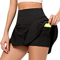 AINIC Women's Tennis Skirts with Shorts Athletic Skorts Golf Skort with Pockets Pleated Sports Skirt Active Skort Mini…