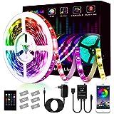 Striscia Led, L8star Led Striscia 5m Strisce Luminose con Controller Bluetooth Sincronizza con la Musica Adatto per TV, Camer